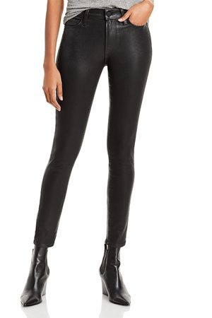 Paige Hoxton High Rise Ankle Skinny Jeans in Fog Luxe Coating