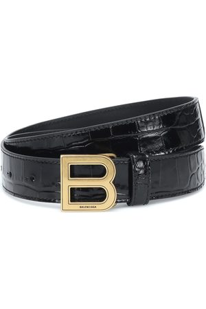 Balenciaga Hourglass croc-effect leather belt