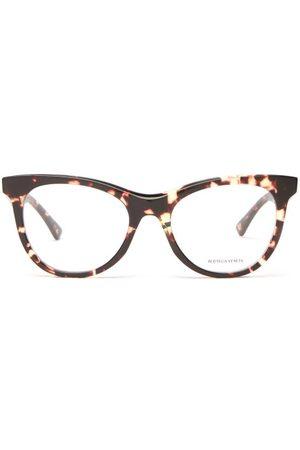 Bottega Veneta Round Tortoiseshell-acetate Glasses - Womens - Tortoiseshell