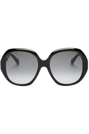 Gucci Oversized Round Acetate Sunglasses - Womens - Grey
