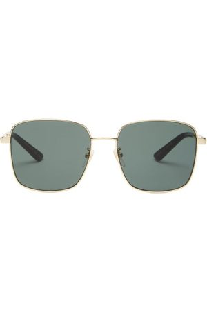 Gucci Square Metal Sunglasses - Womens