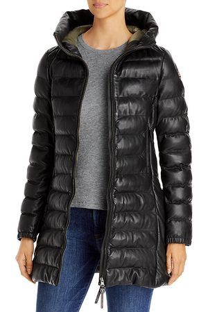 Parajumpers Demi Hooded Leather Puffer Coat