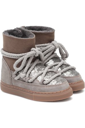 INUIKII Kids Sneaker embellished suede boots