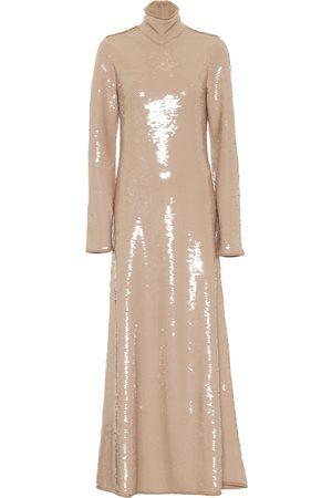 Bottega Veneta Sequined turtleneck gown