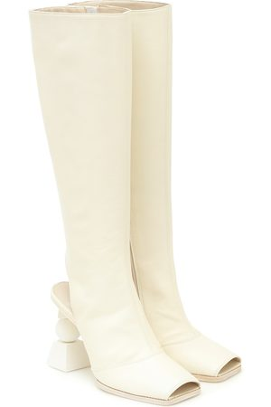 Jacquemus Les Bottes Olive leather knee-high boots