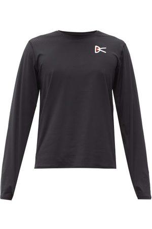 District Vision Men Long Sleeve - Logo-print Mesh Long-sleeved T-shirt - Mens
