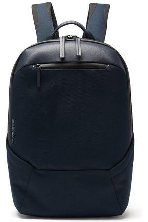 TROUBADOUR Explorer Apex Grained-leather Backpack - Mens - Navy