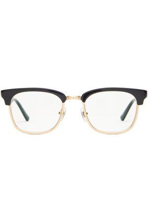 MATSUDA Men Square - Square Titanium And Acetate Glasses - Mens