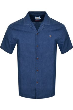 Farah Joplin Short Sleeved Shirt Navy