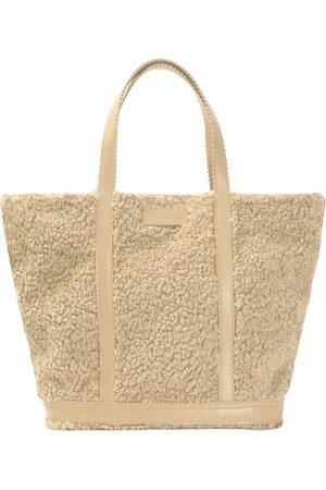 Vanessa Bruno Medium shearling cabas tote bag