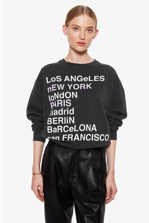 ANINE BING City Love Sweatshirt In Charcoal