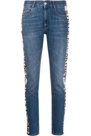 Stella McCartney Women Jeans - Logo-stripe cropped jeans