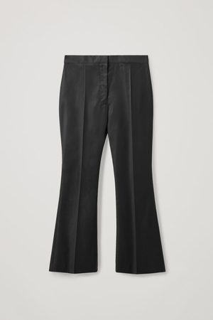 COS Women High Waisted - HIGH-WAISTED WOOL FLARED PANTS
