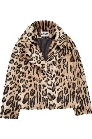 Apparis Gianna leopard-print coat - Neutrals
