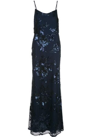 Marchesa Notte Women Printed Dresses - Floral sequined bridesmaid dress