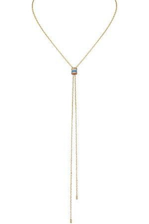 Boucheron 18kt yellow Quatre Blue Edition diamond mini tie necklace