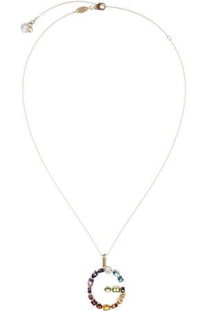 Dolce & Gabbana 18kt yellow initial G gemstone necklace