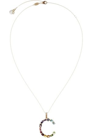 Dolce & Gabbana 18kt yellow initial C gemstone necklace