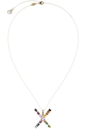 Dolce & Gabbana 18kt yellow initial X necklace