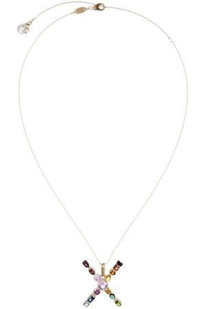 Dolce & Gabbana Topaz initial X necklace