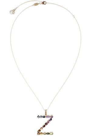 Dolce & Gabbana 18kt yellow initial Z gemstone necklace