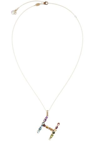 Dolce & Gabbana Topaz initial H necklace