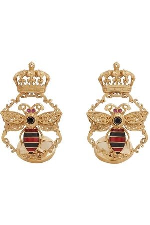 Dolce & Gabbana Bee crown-motif cufflinks