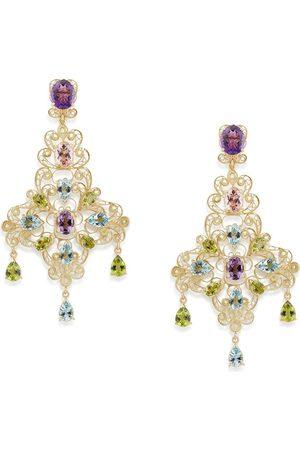 Dolce & Gabbana 18kt yellow stone drop earrings