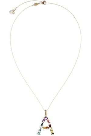 Dolce & Gabbana 18kt yellow initial A gemstone necklace