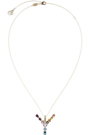Dolce & Gabbana 18kt yellow initial Y gemstone necklace