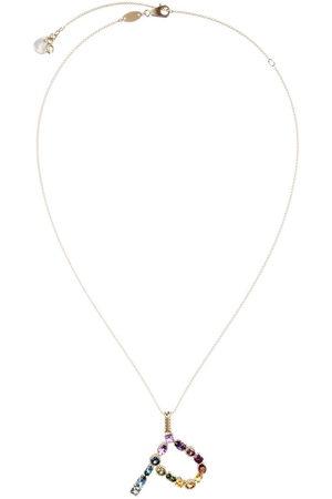 Dolce & Gabbana 18kt yellow initial P gemstone necklace