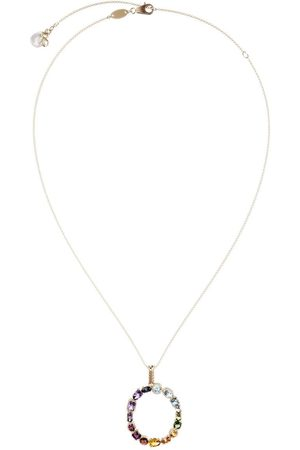 Dolce & Gabbana 18kt yellow initial O gemstone necklace