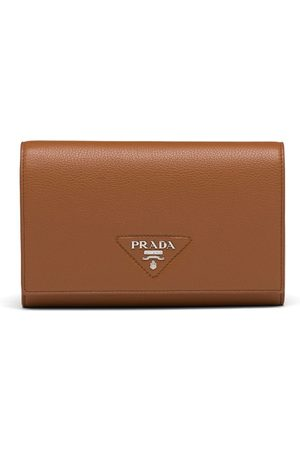 Prada Triangle logo continental wallet