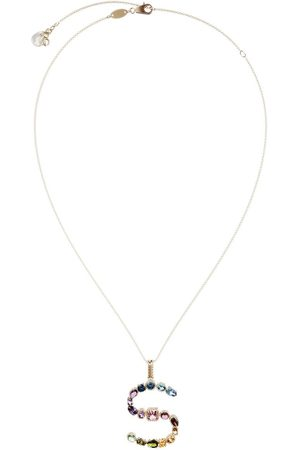 Dolce & Gabbana 18kt yellow initial S gemstone necklace