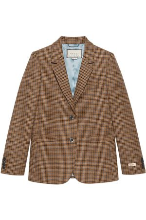 Gucci Houndstooth single-breasted blazer