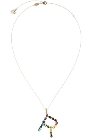 Dolce & Gabbana Topaz initial R necklace