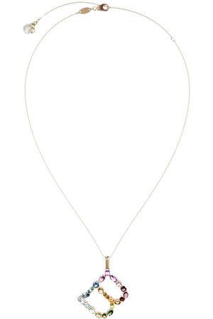 Dolce & Gabbana 18kt yellow initial B gemstone necklace