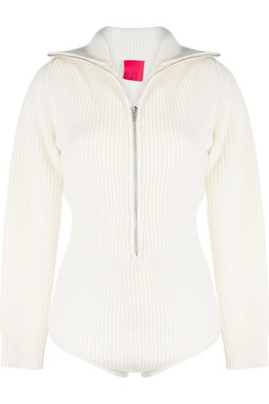 Cashmere In Love Ribbed-knit high-neck bodysuit