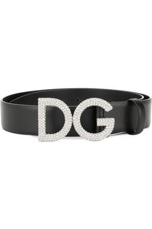 Dolce & Gabbana Rhinestone logo buckle belt