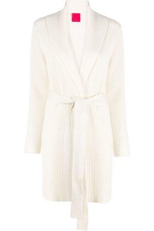 Cashmere In Love Women Cardigans - Ribbed-knit midi cardi-coat