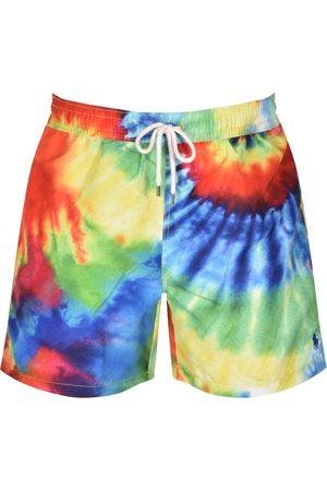 Ralph Lauren Traveller Tie Dye Swim Shorts Red