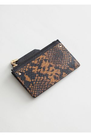 & OTHER STORIES Smooth Leather Card Zip Wallet