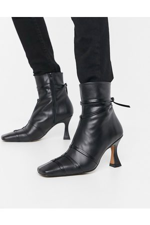 ASOS Ryder premium leather boots with interest heel in