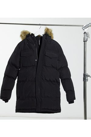 Good For Nothing Double layer parka with faux-fur hood in