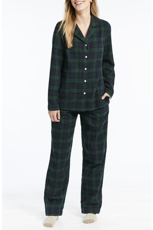 L.L.BEAN Plus Size Women's Scotch Plaid Flannel Pajamas