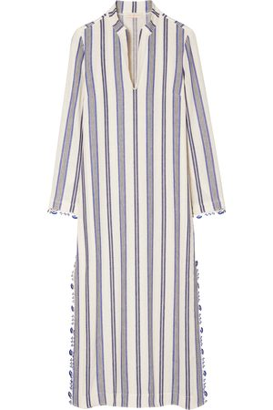 Tory Burch Women's Stephanie Stripe Linen Blend Beach Caftan