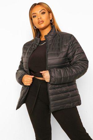 Boohoo Womens Plus Basic Puffer Coat - - 12