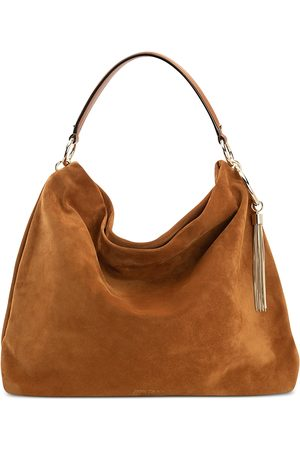 Jimmy Choo Callie Large Suede Shoulder Bag