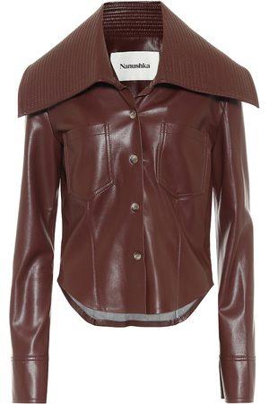 Nanushka Women Long sleeves - Kiara faux leather shirt