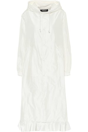 UNDERCOVER Ruffle-trimmed silk satin coat